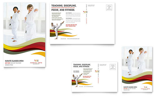 Karate & Martial Arts - Postcard Template Design