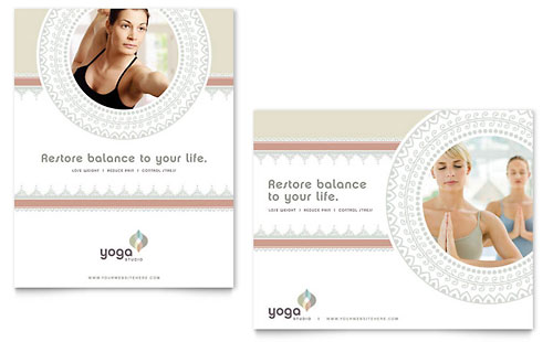 Pilates & Yoga Gift Certificate Template Design