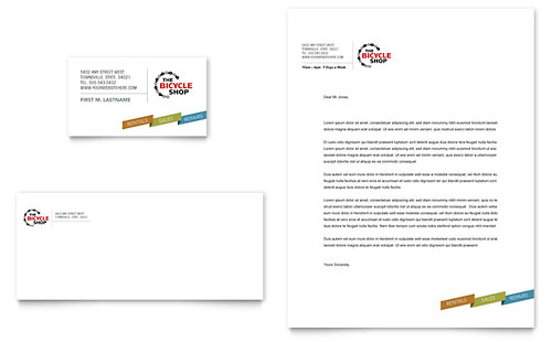 Bike Rentals & Mountain Biking Business Card & Letterhead Template Design
