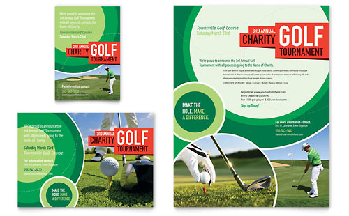Golf Tournament - Flyer & Ad Design Template