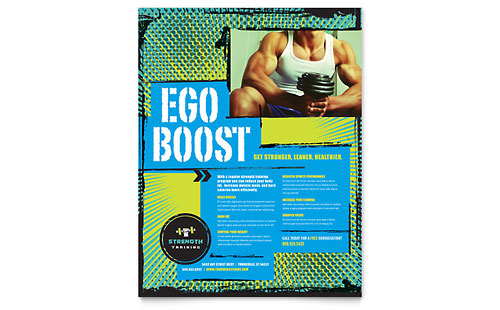 Strength Training Flyer Template Design