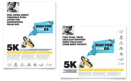 Charity Run - Poster Template Design