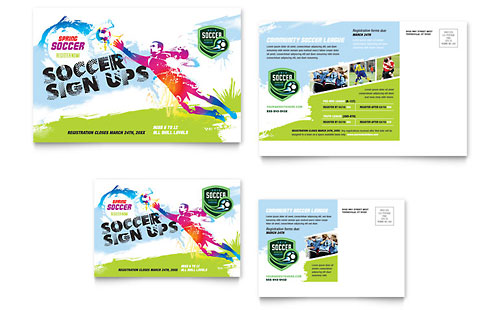 Youth Soccer - Postcard Template Design