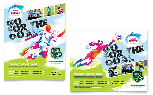 Youth Soccer - Poster Template Design