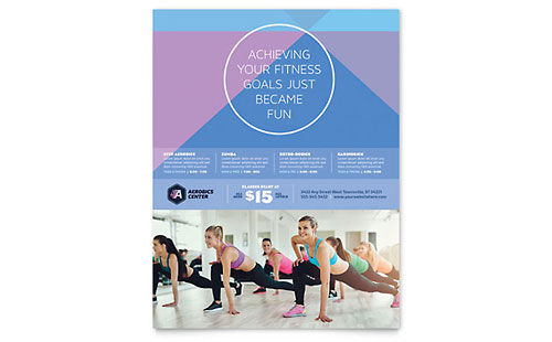 Sports Amp Fitness Leaflets Templates Amp Design Examples
