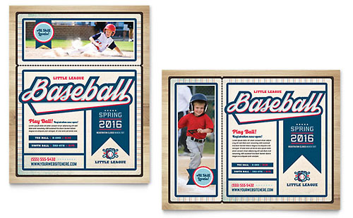 Baseball League Poster Template Design