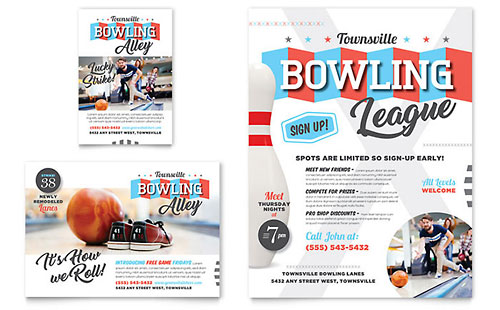 Bowling Flyer Template Design – Bowling Flyer Template