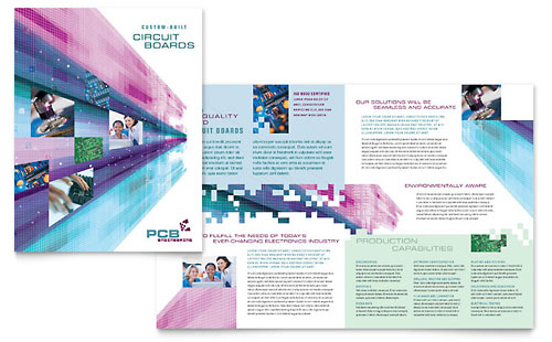 High-Tech Manufacturing Brochure Template Design