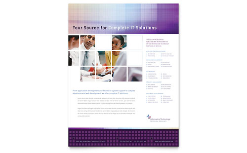 Information Technology Consultants - Flyer Template