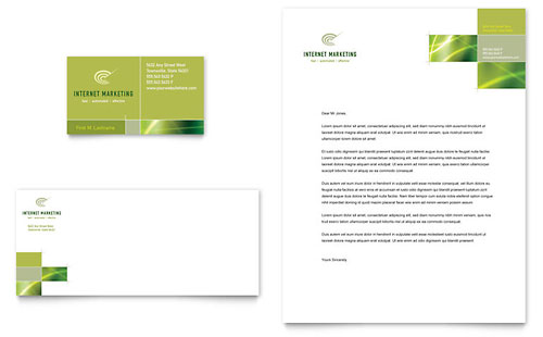 Internet Marketing Business Card & Letterhead Template Design