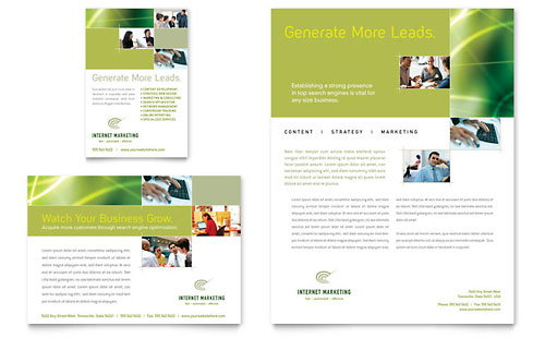 Internet Marketing Flyer & Ad Template Design