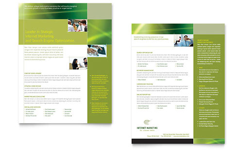 Internet Marketing - Datasheet Template Design