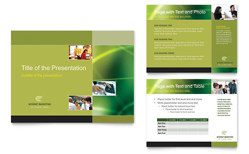 Internet Marketing - PowerPoint Presentation Template Design