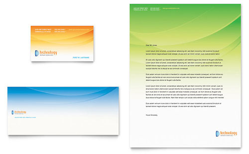 Computer & IT Services - Business Card & Letterhead Template Design