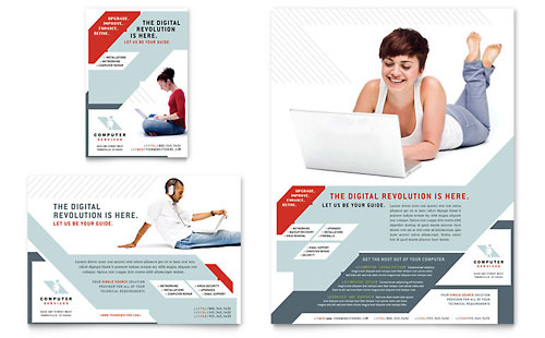 Computer Solutions Flyer & Ad Template Design