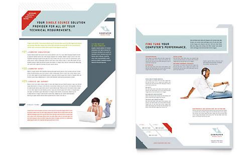 computer solutions newsletter template design