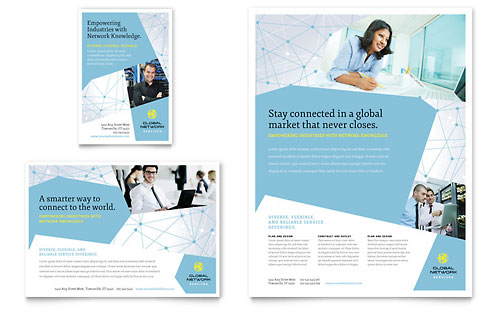Global Network Services Flyer & Ad Template Design