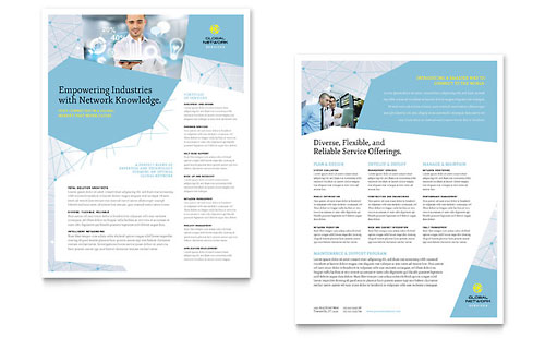 Global Network Services Datasheet Design Template