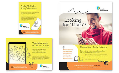 Social Media Consultant Flyer & Ad Template Design
