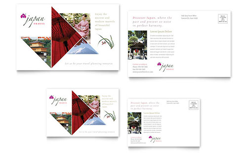 japan travel brochure template - japan travel brochure template design