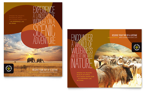 African Safari Poster Template Design