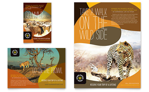 African Safari Flyer & Ad Template Design