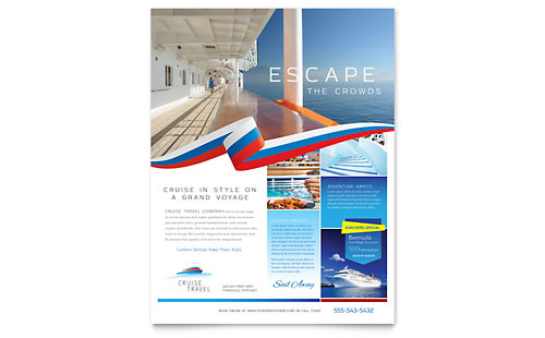 Cruise Travel Flyer Template Design