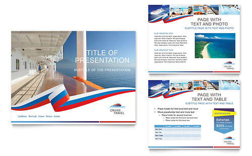 Cruise travel brochure template design for Brochure templates for powerpoint