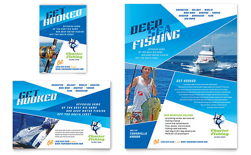Fishing Charter & Guide Flyer & Ad Template Design