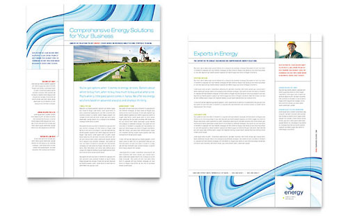 Renewable Energy Consulting Datasheet Template Design