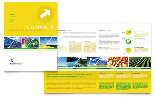 environment brochure template - environmental conservation flyer ad template design