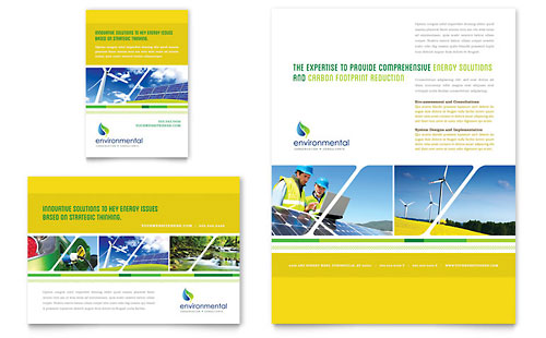Environmental conservation brochure template design for Environment brochure template