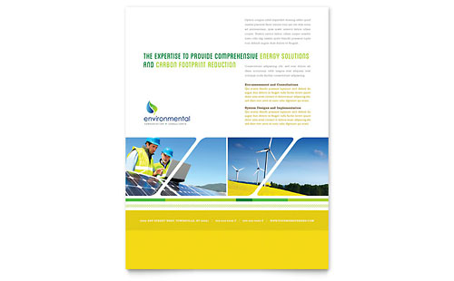 Environmental Conservation - Flyer Design Template