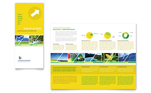 Environmental Conservation - Tri Fold Brochure Design Template