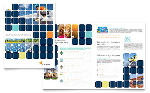 Solar Energy Brochure Design Template