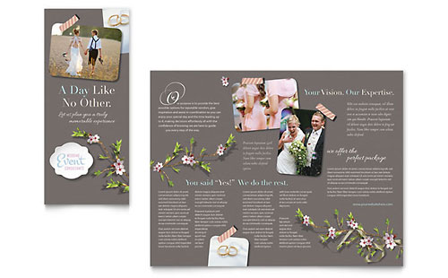 Wedding Planner Brochure Template Design