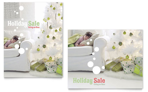 Christmas Dreams Sale Poster Template Design