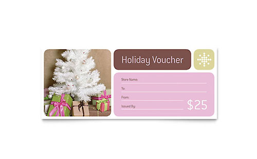 Contemporary Christmas Gift Certificate Template Design