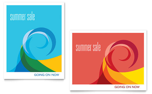 Summer Waves - Sale Poster Template Design