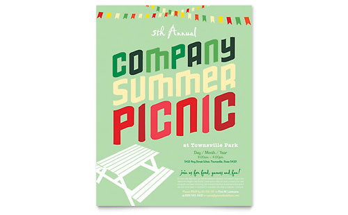 Company Summer Picnic - Flyer Design Template