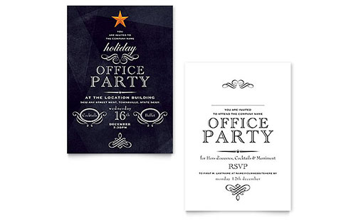 Office Holiday Party Invitation Design Template