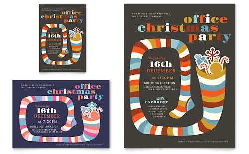 Christmas Party Flyer & Ad Template Design