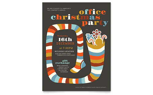 Christmas Party Flyer Template Design