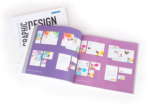 Printed Graphic Design Catalog Pages