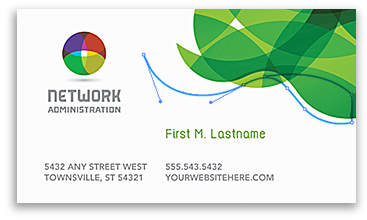 Business Card Example - Logo and Artwork