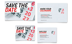 Save The Date - Note Card Design Template