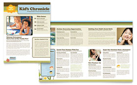 Child Development School - Newsletter Design Template