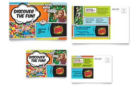 Kids Club - Postcard Design Template