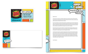 Kids Club - Business Card & Letterhead Design Template