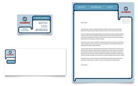 Plumbing Services - Business Card & Letterhead Template